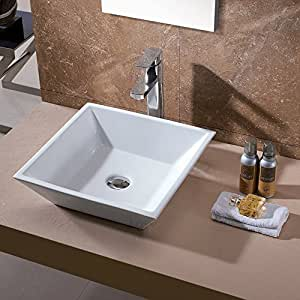 Luxier CS-006 Bathroom Porcelain Ceramic Vessel Vanity