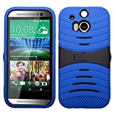 Product B00LF5TH7G - Product title MyBat Wave Symbiosis Protector Cover with Horizontal Stand for HTC One M8 - Retail Packaging - Black/Blue