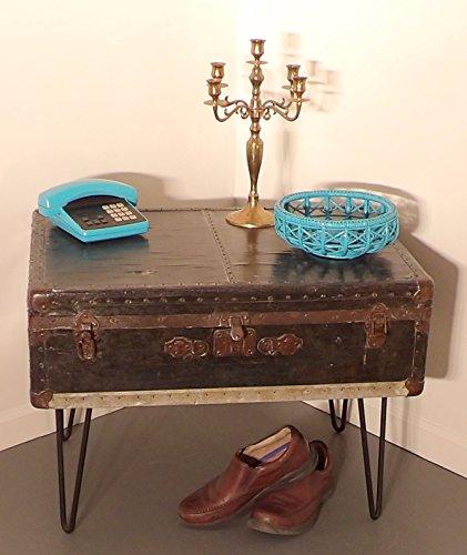 Trunk Coffee Table Foot Locker Hairpin Legs 5