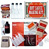 Hot Sauce Kit (Makes 7 Lip Smacking Gourmet Bottles) Featuring Heirloom Peppers From 5th Generation Farmers, A Full Set Of Recipes, Storing Bottles & More! (Deluxe)