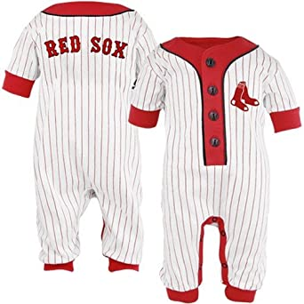 Boston Red Sox Baby Uniform Pinstripe Coveralls, 3-6 mos