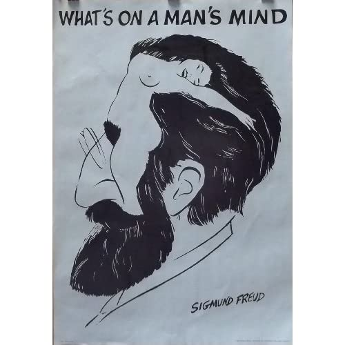 Amazon.com: Sigmund Freud 27x39 What's On A Man's Mind Poster 1981