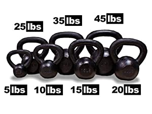 New MTN 5 10 15 20 25 35 45 lbs (1pc) Solid Cast Iron Kettlebell (Kettle Bell) - Lowest Price, Fastest Priority Shipment
