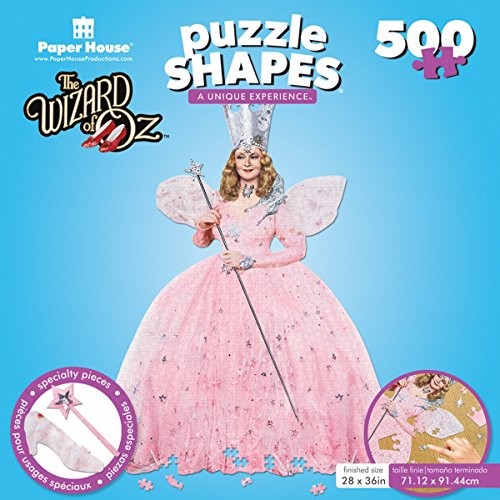 "Paper House Jigsaw Shaped Puzzle (500-Piece), 24 x 31"", The Wizard of Oz-Glinda"