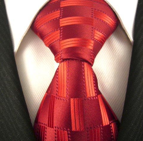 Neckties By Scott Allan - Red Geometric Men's Tie (Scott Allan Red Ties compare prices)