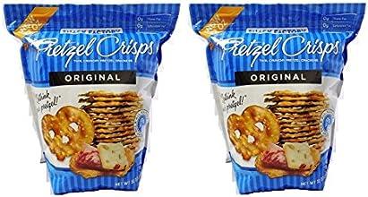 Snack Factory Pretzel Crisps Original Thin Crunchy Pretzel Crackers 2 Bags of 32 Oz