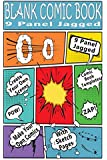 Blank Comic Book : 9 Panel Jagged: Make Your Own Comic Books With These Comic Book Tempates (Blank Comic Books) (Volume 1)