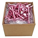 PROTEE Golf Tees (100-Pack), Pink Shiny