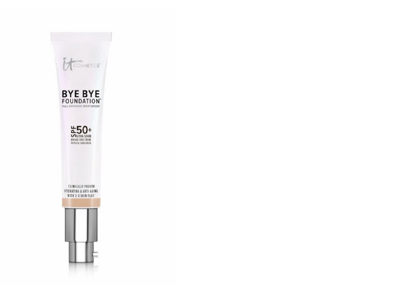 It Cosmetics Bye Bye Foundation Spf 50+ Full Coverage Anti-aging Moisturizer - 1.08 Oz - Medium
