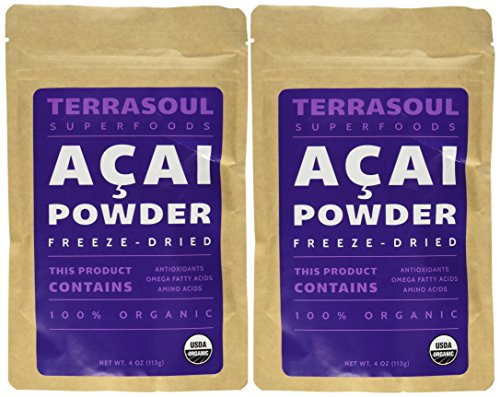 Terrasoul Superfoods Acai Berry Powder (Freeze-dried, Organic), 8-ounce (Acai Yogurt compare prices)