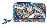 Vera Bradley Turn Lock Wallet (Marina Paisley), Bags Central