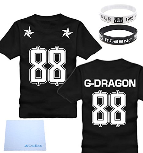 [Big Bang] BIGBANG G-DRAGON (Ji) No. 88 football T-shirt for women M size (150 ~ 155cm) support wristband set of 2! Fan required item KPOP Korean items (japan import) (Big Bang Kpop Shirt compare prices)