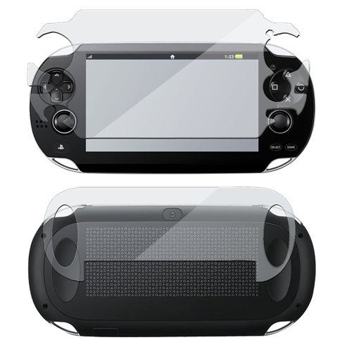 Commonbyte Full Body Lcd Screen Front+Back Protector Guard Film For Sony Ps Vita Psv