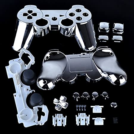 PS3 Chrome Silver Replacement Controller Shell