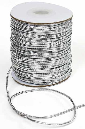 Purchase Silver Metallic Elastic Cord - 50 Yards
