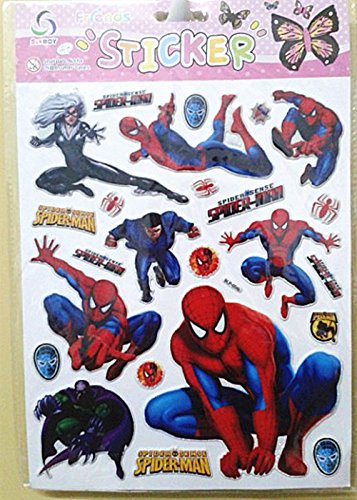 Spider-man Kids Room Adhesive Removable Decal Mural Stickers