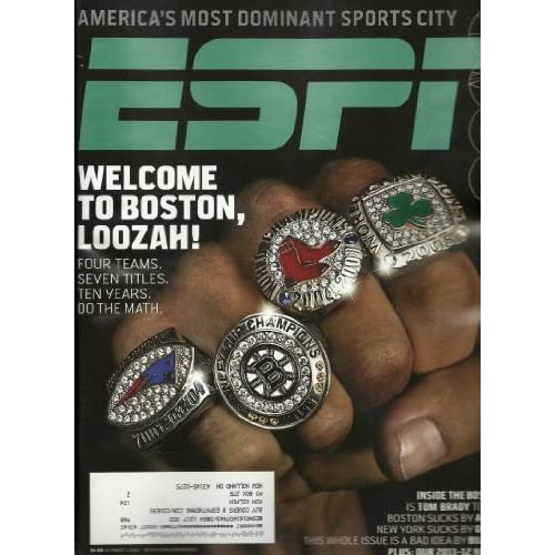 ESPN Magazine October 3, 2011 2011-2012 NHL Preview Tom Brady Welcome