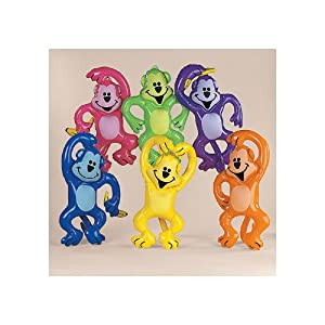 Inflate Neon Jungle Monkey Assortment (12 pc)
