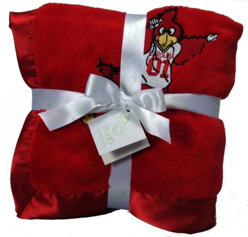 Pickles Embroidered Fleece Baby Blanket with Satin Trim - University South Carolina - 1