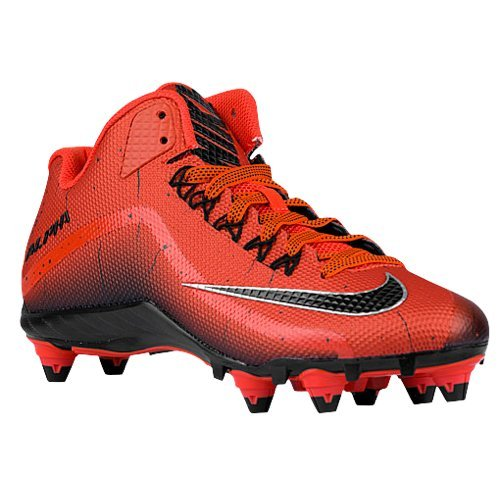 Nike Mens Alpha Pro 2 3/4 TD Football Cleats (10, Red/Black)