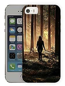 "Humor Gang Girl In Woods Printed Designer Mobile Back Cover For ""Apple Iphone SE"" (3D, Matte, Premium Quality Snap On Case)"