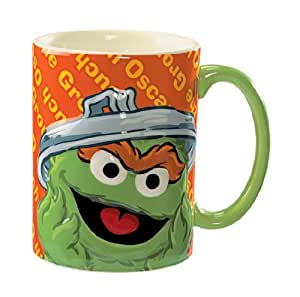 Sesame Street Oscar the Grouch Mug 14 oz