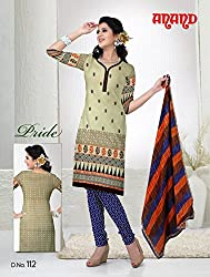 Anand Prints Women's Cotton Unstitched Dress Material (Dno112_MultiColored)