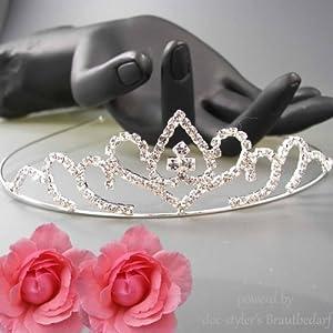 Luxus Diadem Tiara Strass Haarreifen Brautmode Hochzeit Prinzessin Haarschmuck, Modell:Modell 2