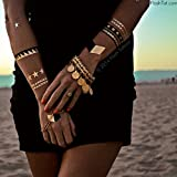Flash Tattoos - Nikki - Authentic Metallic Temporary Tattoos Assorted One
