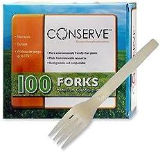 Baumgartens Corn Starch Forks Biodegradable 100BX White 10231