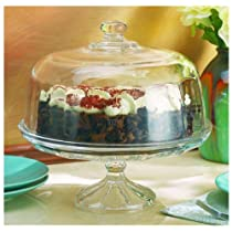 Optic Domed Home Essentials Cake Stand
