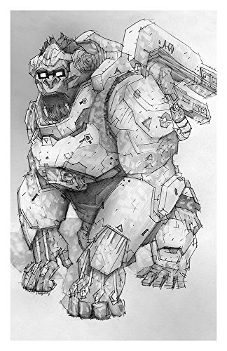 winston-giclee-print-of-pencil-drawing-of-overwatch-tank-character