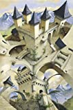 Irvine Peacock The Castle Of Illusion Escher Style HUGE LAMINATED Poster