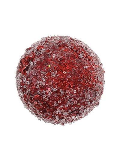 Winward Small Iced Glitter Ball, Red