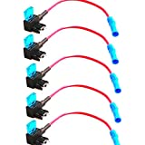 E Support 12v Car Add-a-circuit Fuse TAP Adapter Mini ATM APM Blade Fuse Holder Pack of 5