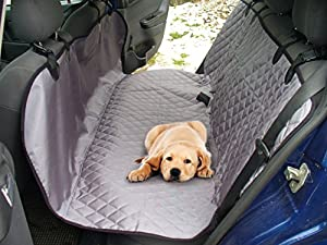 Pet Car Barrier Back Seat Cover for Cars Trucks SUV - Dog Rear Seats Protector for Small Medium or Large Dogs - Waterproof Hammock 2 Colors