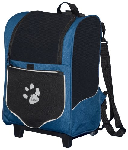 Pet Gear I-GO2 Sport Roller Backpack for cats and dogs, Misty Blue