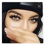 Fyonas 100% Handmade 3D Mink Fur Fake Eyelashes for Makeup Reusable Wispy Lashes 1 Pair Package (No.80)