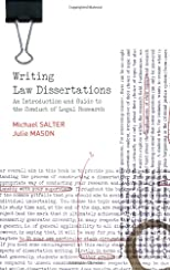 Writing law dissertations : an introduction and guide to the conduct of legal research
