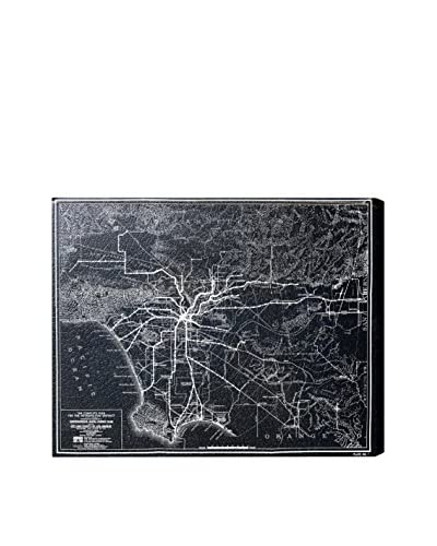Oliver Gal La Rapid Transit Map 1925  Canvas Art, Multi, 20 x 24