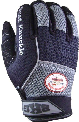Images for BKG - Busted Knuckle Garage BKG006 24401 Big Rig Mechanic Black/Gray Medium Glove