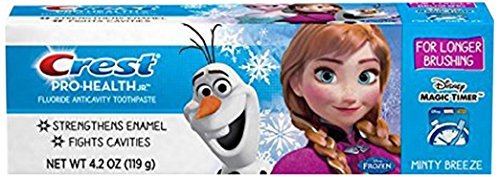 Crest Pro-Health Jr. Disney Frozen Characters Kids Minty Toothpaste, 4.2 oz (Pack of 2) (Crest Pro Health Minty Breeze compare prices)