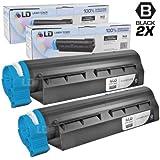 LD © Set of 2 Okidata Compatible 44992405 Black Laser Toner Cartridge for the MB451W MFP Printers