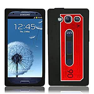iSee Case Black Silicone Rubber Cassette Tape Case Cover for Samsung Galaxy S3 (Fits At&t, Verizon, Sprint, Tmobile S3s)