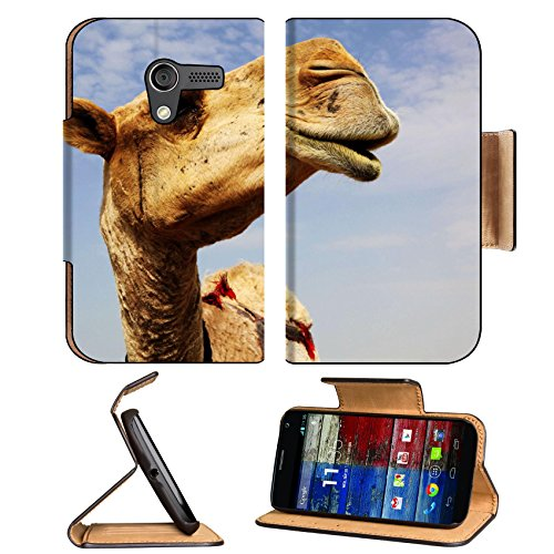 Motorola X 1st Generation Flip Case A close up view of the head of a dromedary camel against a slightly cloudy sky 6025115 by Liili Customized Premium Deluxe Pu Leather generation Accessories HD Wifi 16gb 32gb Luxury Protector Case