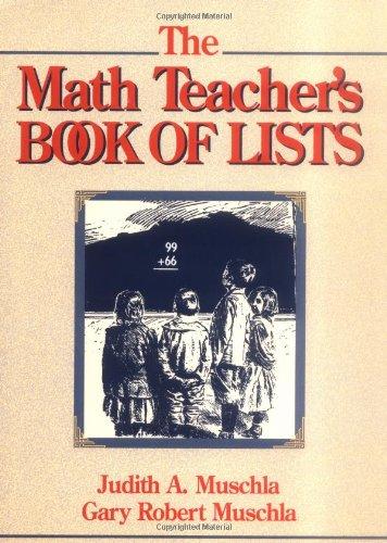 The Math Teacher's Book of Lists