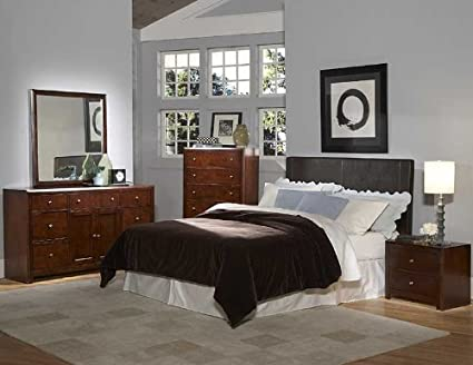 Homelegance Copley Dark Brown Bi-Cast Bedroom Collection 815PU-BED-SET
