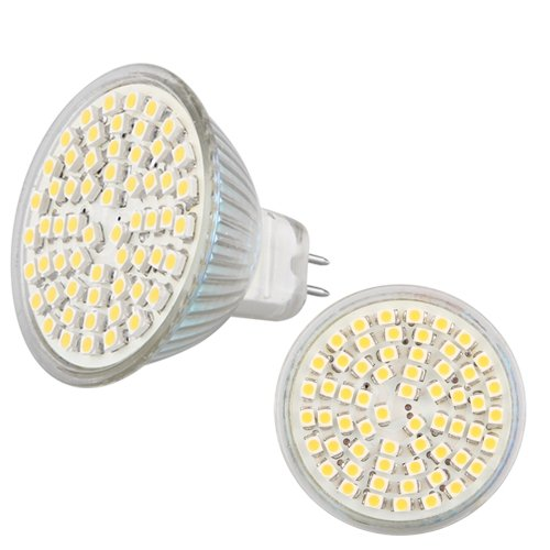 Fergie Rossa: 10 LAMPADINE LAMPADE GU5,3 MR16 60 LED SMD BIANCO CALDO