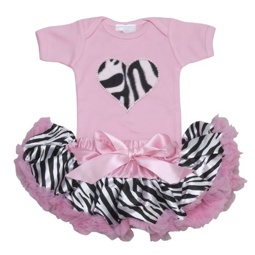 Lollipop Moon Zebra Heart Tutu Set front-912969