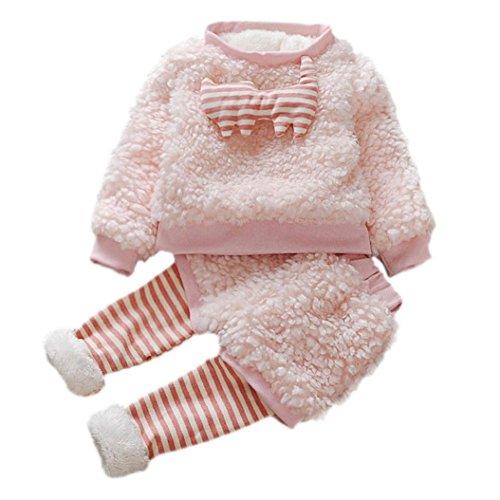 Culater® Infant ragazze del fumetto di lana pelliccia calda pantaloni cappotto di spessore (8)